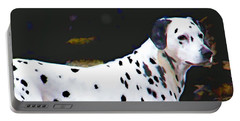 Dalmatian On The Rocks Portable Battery Charger by Wendy McKennon
