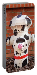 Portable Battery Charger featuring the photograph Dalmation Hydrant by James Eddy