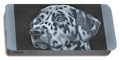 Dalmation Portrait Portable Battery Charger