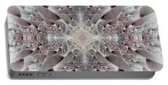 Portable Battery Charger featuring the digital art Damask by Lea Wiggins