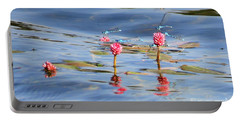 Damselflies On Smartweed Portable Battery Charger
