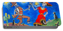 Dance Of The Dead Portable Battery Charger by Dale Loos Jr