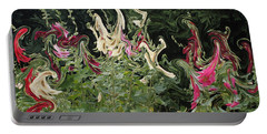 Dance Of The Hollyhock Fairies Portable Battery Charger by David and Lynn Keller