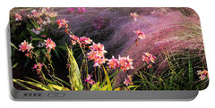 Portable Battery Charger featuring the photograph Dance Of The Orchids by Rosalie Scanlon