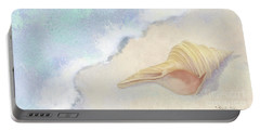 Portable Battery Charger featuring the painting Dance Of The Sea - Australian Trumpet Shell Impressionstic by Audrey Jeanne Roberts