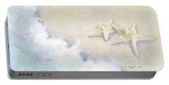 Portable Battery Charger featuring the painting Dance Of The Sea - Knobby Starfish Impressionstic by Audrey Jeanne Roberts