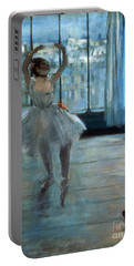 Dancer In Front Of A Window Portable Battery Charger