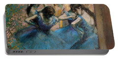 Dancers In Blue Portable Battery Charger