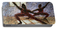Dancers Near A Window Portable Battery Charger