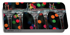Dancers On Wine Glasses Portable Battery Charger