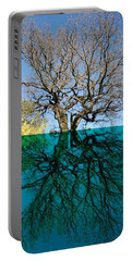 Dancers Tree Reflection  Portable Battery Charger