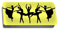 Dancing Ballerinas Silhouette Portable Battery Charger