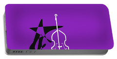 Dancing Bass In Purple Portable Battery Charger