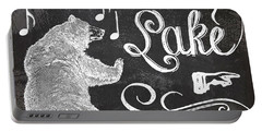 Dancing Bear Lake Rustic Cabin Sign Portable Battery Charger