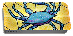 Dancing Blue Crab 4 Portable Battery Charger by Jim Harris