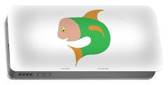 Dancing Fish Portable Battery Charger by Fred Jinkins