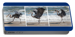 Dancing Heron Triptych Portable Battery Charger