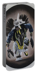 Portable Battery Charger featuring the painting Dancing In The Spirit by Michael  TMAD Finney