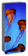 Portable Battery Charger featuring the photograph Dancing Jellyfish by Anthony Jones