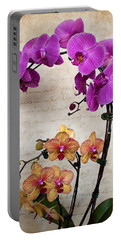 Dancing Orchids Portable Battery Charger