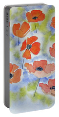 Dancing Poppies Portable Battery Charger