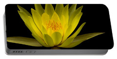 Dancing Yellow Lotus Portable Battery Charger by David Millenheft