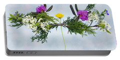 Dandelion Balancing Act With Blue Background Portable Battery Charger