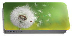 Portable Battery Charger featuring the photograph Dandelion Clock In Morning by Bess Hamiti