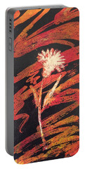 Portable Battery Charger featuring the painting Dandelion  by Elizabeth Mundaden