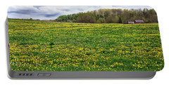 Dandelion Field With Barn Portable Battery Charger