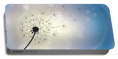 Dandelion In A Summer Breeze Portable Battery Charger