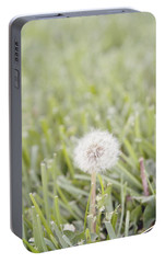 Portable Battery Charger featuring the photograph Dandelion In The Grass by Cindy Garber Iverson