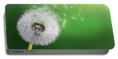 Portable Battery Charger featuring the photograph Dandelion Seed by Bess Hamiti