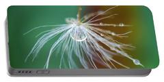Dandelion Water Drop Macro 2 Portable Battery Charger