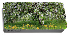 Dandelions And Apple Blossoms Portable Battery Charger