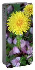 Dandelions And Petals Portable Battery Charger