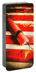 Danger Bomb Background Portable Battery Charger
