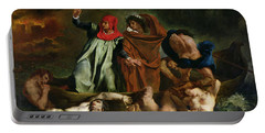 Dante And Virgil In The Underworld Portable Battery Charger