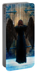 Dark Angel At Church Doors Portable Battery Charger