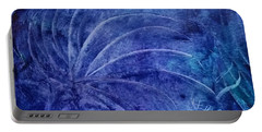 Dark Blue Abstract Portable Battery Charger