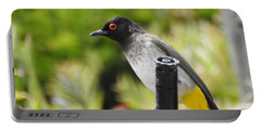 Portable Battery Charger featuring the photograph Dark-capped Bulbul by Betty-Anne McDonald