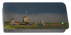 Dark Clouds Above Zaanse Schans Portable Battery Charger