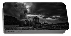 Dark Clouds Bw #h2 Portable Battery Charger