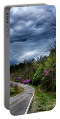 Portable Battery Charger featuring the photograph Dark Clouds Over Redbud Highway by Thomas R Fletcher