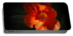 Portable Battery Charger featuring the photograph Dark Flower by AJ Schibig