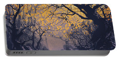 Portable Battery Charger featuring the painting Dark Forest by Tithi Luadthong
