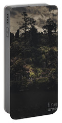 Dark Landscape Photograph Of Distant People Hiking Portable Battery Charger