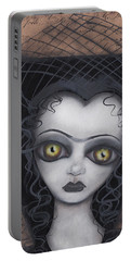 Dark Lily Portable Battery Charger by Abril Andrade Griffith