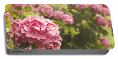 Dark Pink Hydrangea Portable Battery Charger