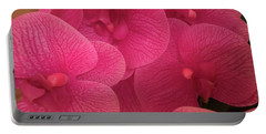 Dark Pink Orchids Portable Battery Charger
